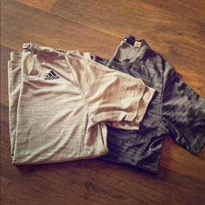 Two Pack Grey Men's Adidas climate control tees M